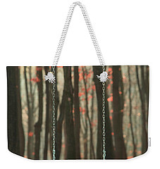 Wooden Swing In Autumn Forest Weekender Tote Bag