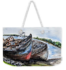 Wrecked River Boats Weekender Tote Bag