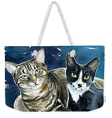 Xani And Zach Cat Painting Weekender Tote Bag
