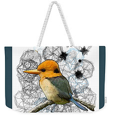 Y Is For Yellow Billed Kingfisher Weekender Tote Bag