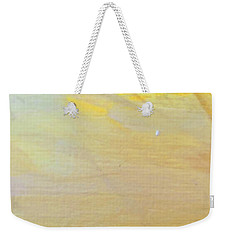 Weekender Tote Bag featuring the painting Yellow #2 by Maria Langgle