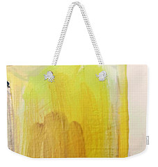 Weekender Tote Bag featuring the painting Yellow #3 by Maria Langgle