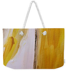 Weekender Tote Bag featuring the painting Yellow #5 by Maria Langgle