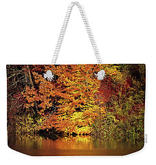 Weekender Tote Bag featuring the photograph Yellow Autumn Leaves by Mike Murdock