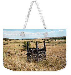 Yellow Grass And Fence Anchor Weekender Tote Bag