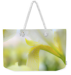 Weekender Tote Bag featuring the photograph Yellow Iris 1 by Leland D Howard