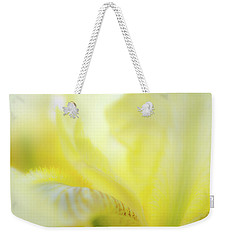 Weekender Tote Bag featuring the photograph Yellow Iris 2 by Leland D Howard