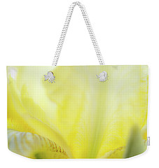 Weekender Tote Bag featuring the photograph Yellow Iris 3 by Leland D Howard