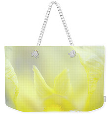 Weekender Tote Bag featuring the photograph Yellow Iris 4 by Leland D Howard