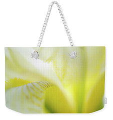 Weekender Tote Bag featuring the photograph Yellow Iris 5 by Leland D Howard