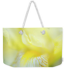 Weekender Tote Bag featuring the photograph Yellow Iris 6 by Leland D Howard