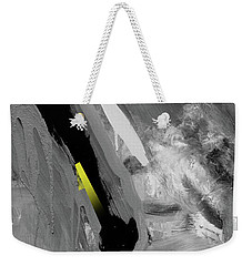 Weekender Tote Bag featuring the painting Yellow by John Jr Gholson