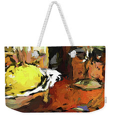 Yellow Lemon And The Wine Glass Weekender Tote Bag