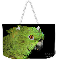 Weekender Tote Bag featuring the photograph Yellow-naped Amazon by Debbie Stahre
