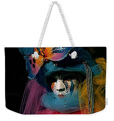 Weekender Tote Bag featuring the photograph Yellow Pink Blue Butterfly by Donna Corless