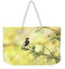 Yellow-rumped Warbler Weekender Tote Bag