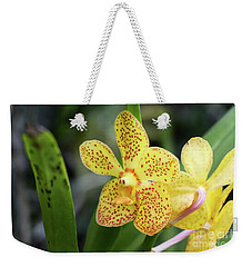 Yellow Spotted Orchids Weekender Tote Bag