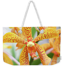 Yellow Spotted Spider Orchids Weekender Tote Bag