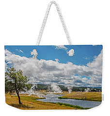 Weekender Tote Bag featuring the photograph Yellowstone Rising by Matthew Irvin