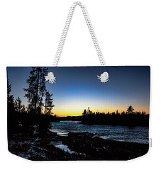 Weekender Tote Bag featuring the photograph Yellowstone River by Pete Federico