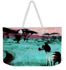 Zebra Weekender Tote Bag