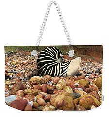 Zebra Nautilus Shell On Bauxite Beach Weekender Tote Bag