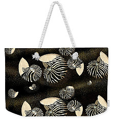 Zebra Pattern Nautilus Shells6 Weekender Tote Bag