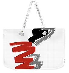 Weekender Tote Bag featuring the digital art Zee Paint by Pennie McCracken