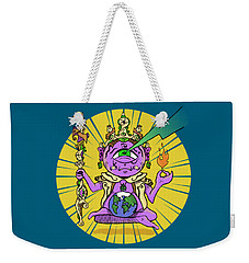 Weekender Tote Bag featuring the digital art Zen by Sotuland Art