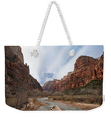 Zion National Park And Virgin River Weekender Tote Bag