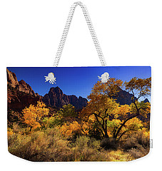 Weekender Tote Bag featuring the photograph Zions Beauty by Tassanee Angiolillo