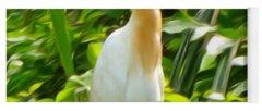 Cattle Egret Yoga Mats