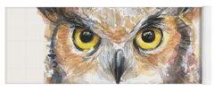 Owl Paintings Yoga Mats