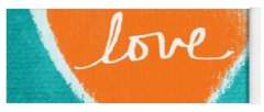 Love Mixed Media Yoga Mats