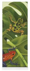 Green Tree Frogs Paintings Yoga Mats