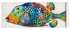 Ocean Life Paintings Yoga Mats