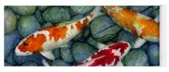 Koi Fish Pond Yoga Mats