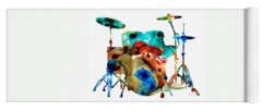 Rock And Roll Drums Yoga Mats