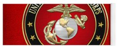 Military Insignia Digital Art Yoga Mats
