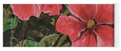 Hibiscus Flower Paintings Yoga Mats