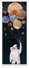 Solar Planets Paintings Yoga Mats