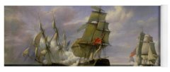 Warship Paintings Yoga Mats