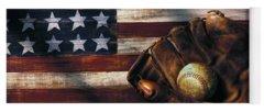 Baseball Art Yoga Mats