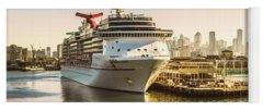 Carnival Cruise Lines Photographs Yoga Mats