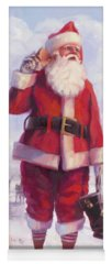 Santa Claus Paintings Yoga Mats