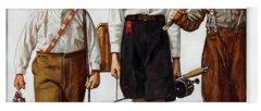 Norman Rockwell Paintings Yoga Mats