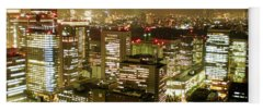 Tokyo Skyline Photographs Yoga Mats