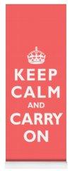 Keep Calm And Carry On Photographs Yoga Mats