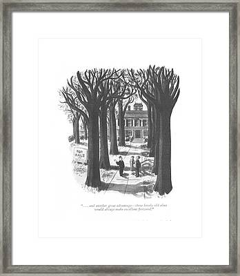 . . . And Another Great Advantage - These Lovely Framed Print