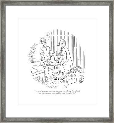 . . . And You Can Imagine My Surprise When Framed Print by Richard Decker